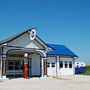 Route 66 Odell Il Gas Station 02 Art Print