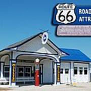 Route 66 Odell Il Gas Station Signage 01 Art Print