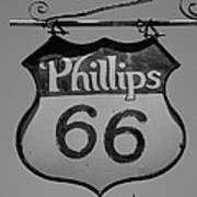 Route 66 - Phillips 66 Petroleum Art Print