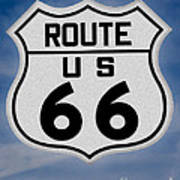 Route 66 Road Sign Art Print