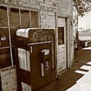 Route 66 - Rusty Coke Machine 2 Art Print