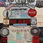 Route 66 Signs Art Print