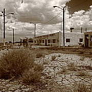 Route 66 - Twin Arrows Trading Post Art Print