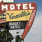 Route 66 - Vernelle's Motel Art Print