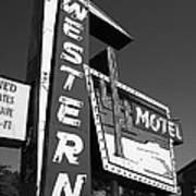 Route 66 - Western Motel 7 Art Print