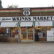 Route 66 - Wrink's Market Art Print