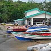 Row Boats On Beach Art Print
