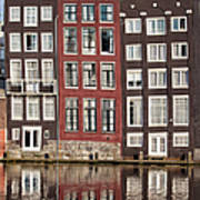 Row Houses In Amsterdam Art Print