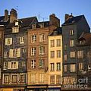 Row Of Houses. Honfleur Harbour. Calvados. Normandy. France. Europe Art Print by Bernard Jaubert