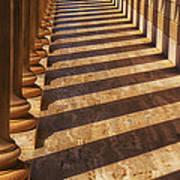 Row Of Pillars Art Print by Garry Gay