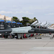 Row Of T-38c Trainer Jets At Nellis Air Art Print