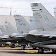 Row Of U.s. Marine Corps Fa-18 Hornet Art Print