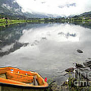 Row Your Boat To The Briksdalsbreen Glacier Art Print