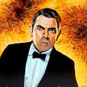 Rowan Atkinson Alias Johnny English Art Print