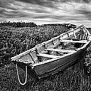 Rowboat At Prospect Point - Black And White Art Print