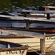 Rowboats At A Lake Art Print