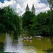 Rowboats Central Park New York Art Print