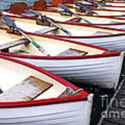 Rowboats Art Print by Elena Elisseeva