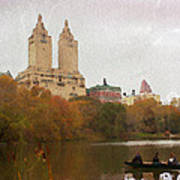 Rowers In Central Park Art Print