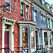 Rowhouses Of Eastern Market Xiv Art Print