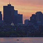 Rowing Boston Art Print