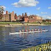 Rowing On The Thames At Hampton Court Art Print