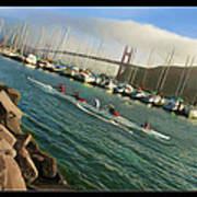 Rowing To The Golden Gate Bridge Art Print