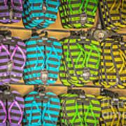 Rows Of Flip-flops Key West - Hdr Style Art Print