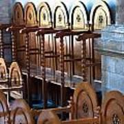 Rows Of Prayers Chairs Art Print