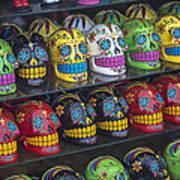 Rows Of Skulls Print by Garry Gay