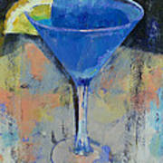 Royal Blue Martini Art Print