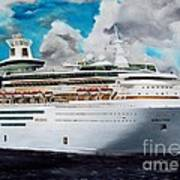 Royal Caribbean Sovereign Of The Seas Art Print