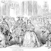Royal Costume Ball, 1851 Art Print