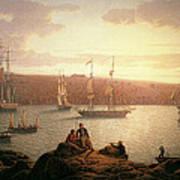 Royal Naval Vessels Off Pembroke Dock Hilford Haven Art Print