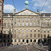 Royal Palace From Raadhuisstraat Street In Amsterdam Art Print