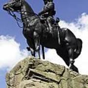 Royal Scots Greys Monument In Edinburgh Art Print