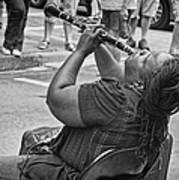 Royal Street Clarinet Player New Orleans Art Print