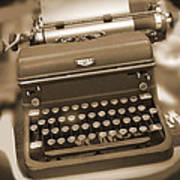 Royal Typewriter Art Print