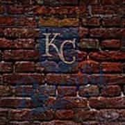 Royals Baseball Graffiti On Brick  Art Print by Movie Poster Prints
