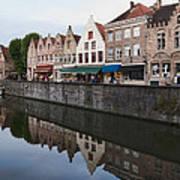 Rozenhoedkaai Bruges Art Print