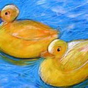 Rubber Ducks In A Tub Art Print
