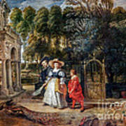 Rubens In His Garden With Helena Fourment Art Print