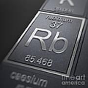 Rubidium Chemical Element Art Print