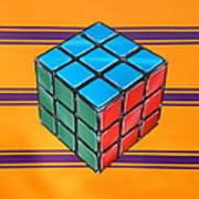 Rubiks Art Print by Anthony Mezza