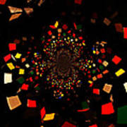 Rubik's Explosion Art Print by Scott Allison