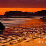 Ruby Beach Afterglow Art Print