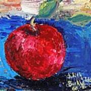 Ruby Red Apple - SOLD Art Print