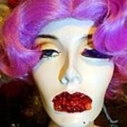 Ruby Red Lips Art Print