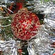 Ruby Red Ornament Art Print