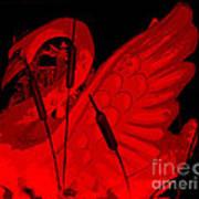 Ruby Red Swan Art Print